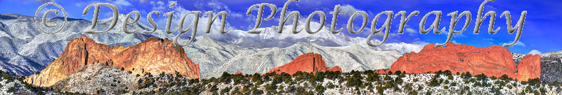 Pikes Peak and Garden of the Gods Panorama, Colorado Springs, Colorado