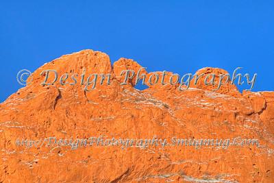 Kissing Camels with New Snow and Blue Sky, Garden of the Gods Park, Colorado Springs, Colorado