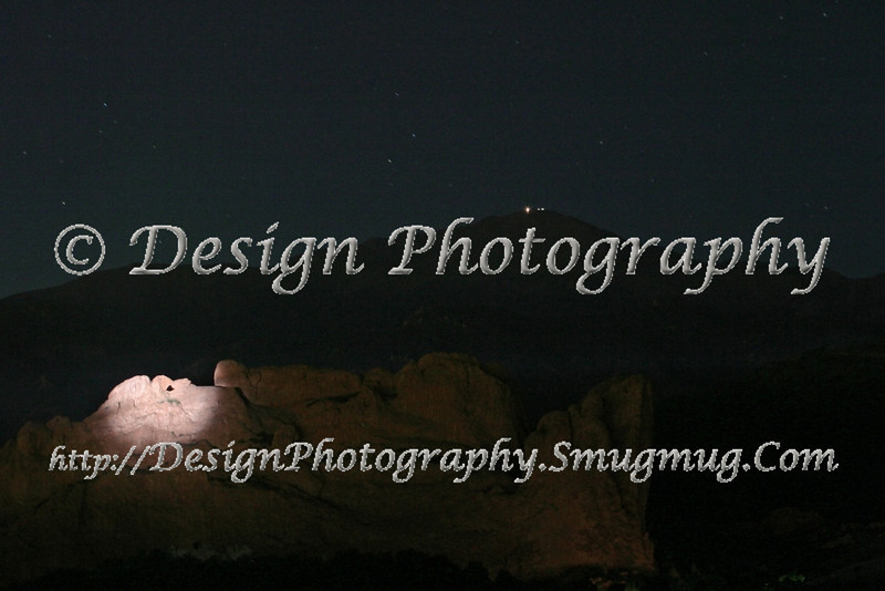 Kissing Camels at Night, Colorado Springs, Colorado