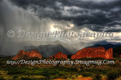 Rainstorm at Garden of the Gods, Colorado Springs, Colorado