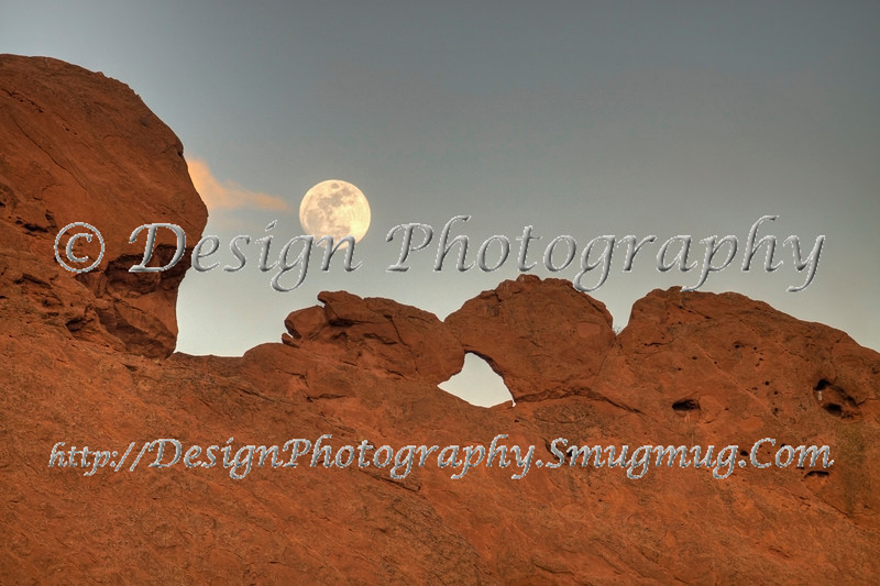 Kissing Camels with Moon up Above, Colorado Springs, Colorado