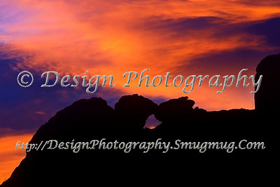 Kissing Camels silhouetted by the Sunset, Garden of the Gods, Colorado Springs, Colorado