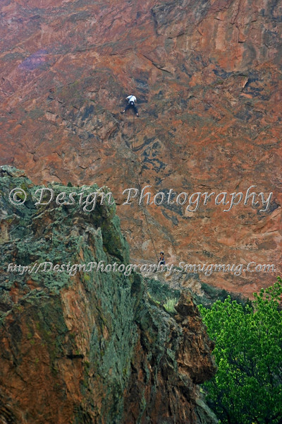 Rock climber on Gray Rock, Colorado Springs, Colorado