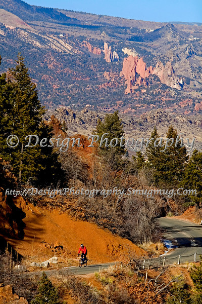 Garden of the Gods Park from Mountains, Colorado Springs, Colorado