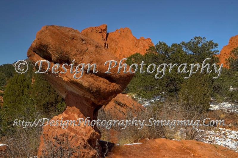 Toad Stool rock formation in Garden of the Gods Park, Colorado Springs, Colorado