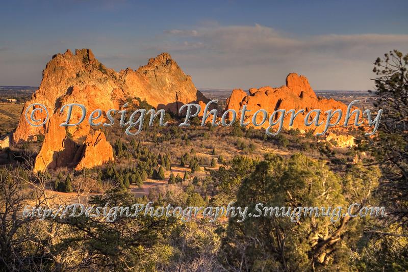 Gray Rock and Sleeping Giant in Garden of the Gods Park, Colorado Springs, Colorado