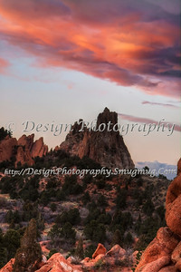 Sunset at Garden of the Gods Park, Colorado Springs, Colorado