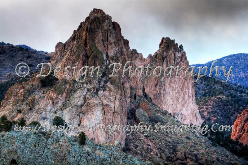 Gray Rock at Garden of the Gods Park, Colorado Springs, Colorado