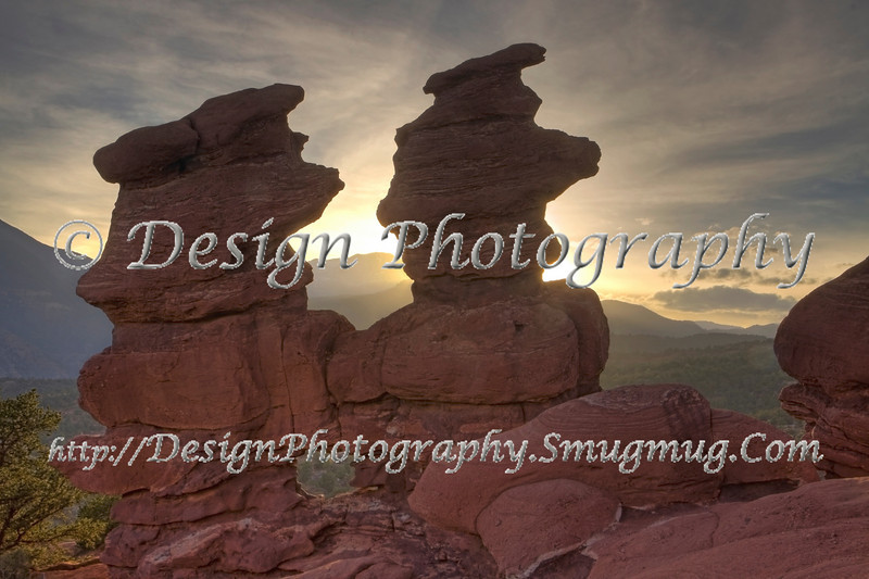 Siamese Twins at Sunset, Garden of the Gods Park, Colorado Springs, Colorado