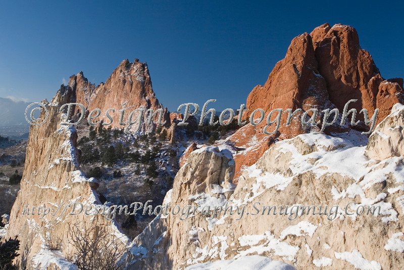 Garden of the Gods Park after a Snowstorm, Colorado Springs, Colorado