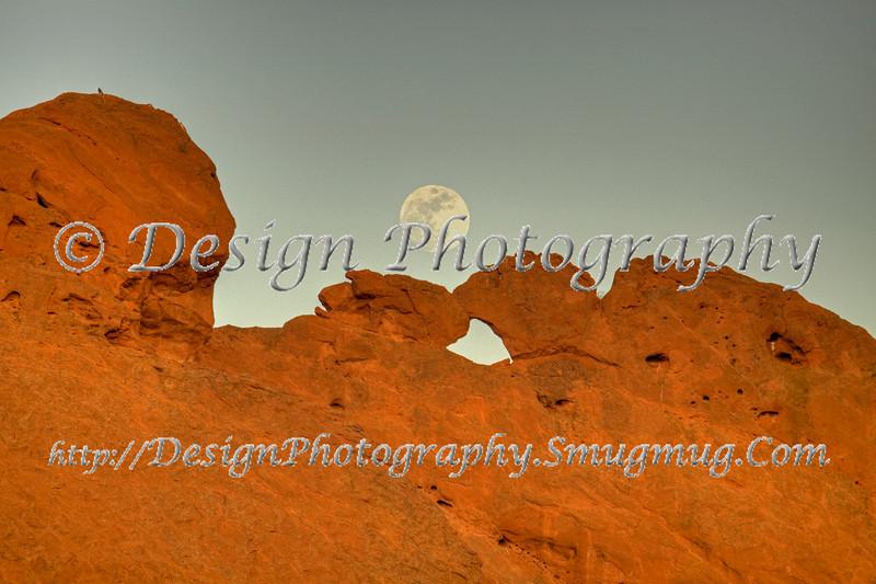 Kissing Camels with Moon, Garden of the Gods Park, Colorado Springs, Colorado