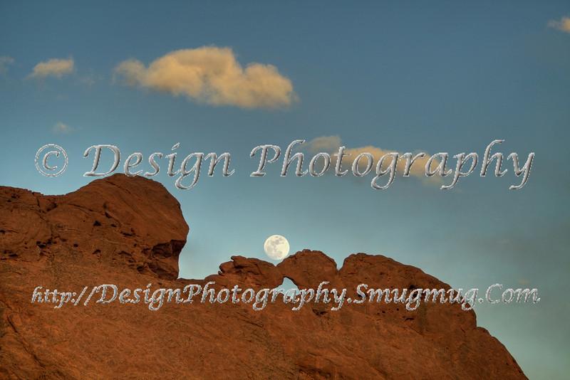 Kissing Camels with Moon, Colorado Springs, Colorado