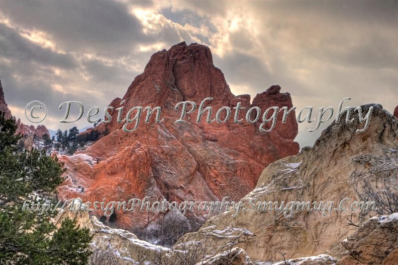 South Gateway Rock on a Winter Day, Colorado Springs, Colorado