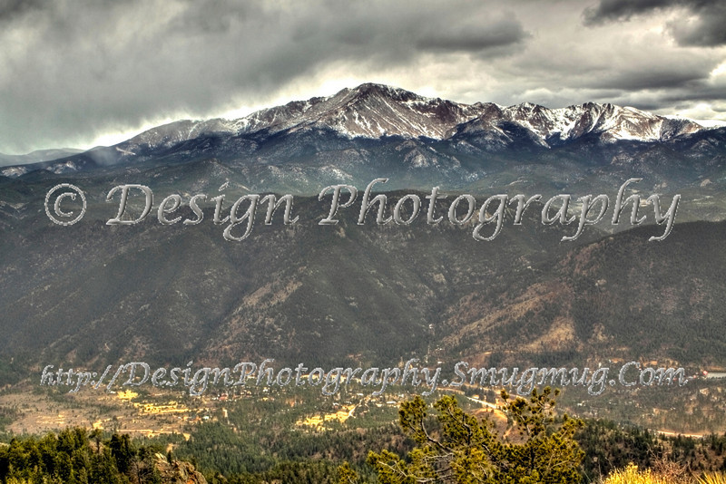 Storm clouds over Pikes Peak