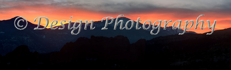 Sunset, Pikes Peak, Colorado Springs, Colorado