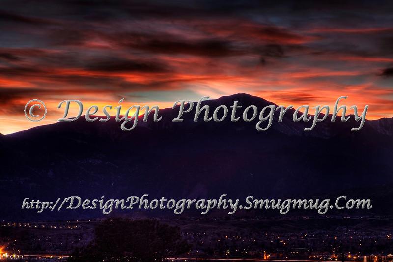 Sunset, Pikes Peak, Colorado Springs, Colorado