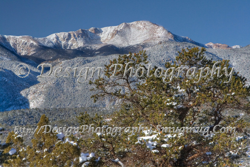 Pikes Peak after fresh snow