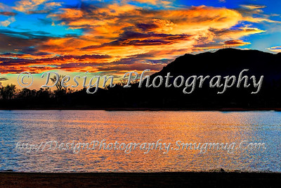 Sunset, Memorial Park, Colorado Springs, Colorado