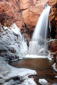 Rainbow Falls in the Winter, El Paso County, Colorado