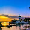 10. beautiful harbour sunset
