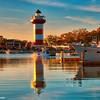 15. light house reflection at sunset
