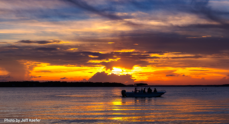 8. fishing at sunset