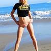Pretty Blonde Bikini Swimsuit Model