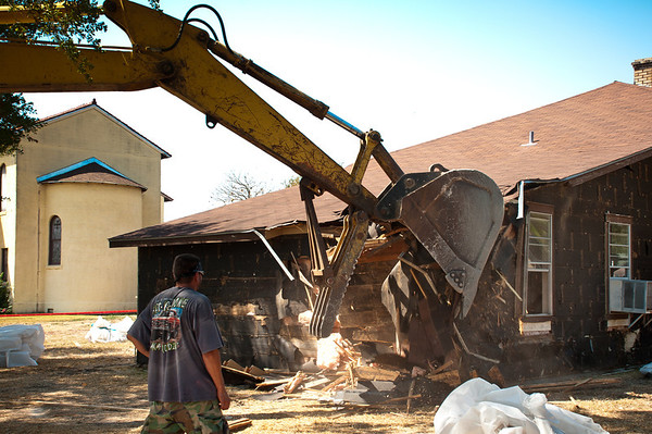 Demolition Of The Old Rectory In Chappell Hill