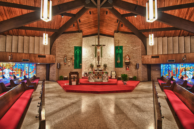 Interior of the current St Mary Church in Bremond Texas