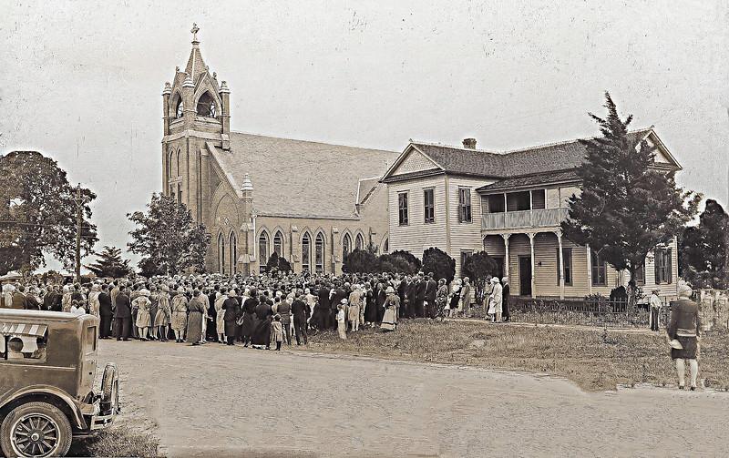 Fr Szymanski 25th Anniversary May 24, 1927 - St Mary Church in Bremond Texas
