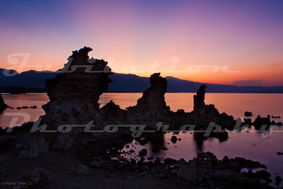 The last rays at Mono Lake, with a touch of flash for detail.