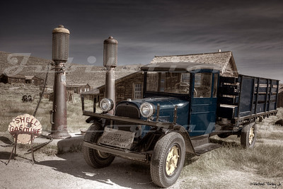A 1930's era gas station in Bodie.