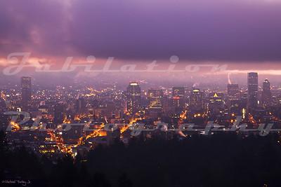 A purple Portland morning.