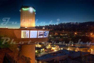 The Oregon City Municipal Elevator in Oregon City, built in 1954.