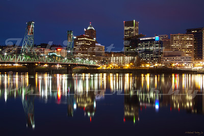 Another view of the Hawthorn Bridge and downtown Portland from the Eastbank Esplanade.