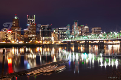 A more traditional view of downtown Portland.