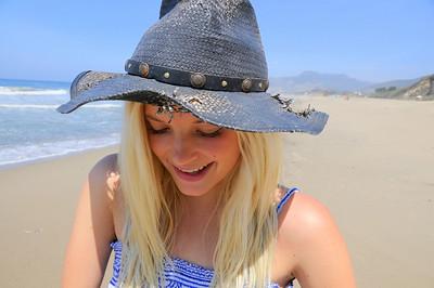 Beautiful Blonde Model on Beach