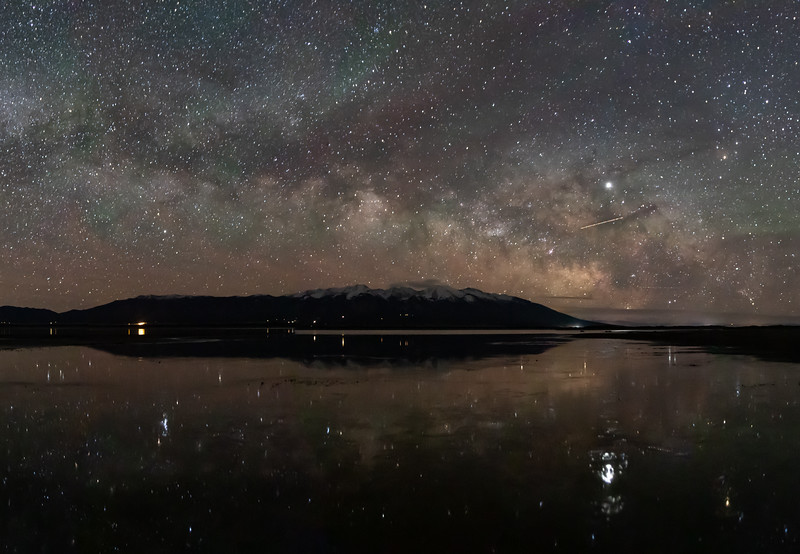 San Luis Lake under the Milky Way