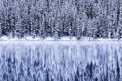 Snowy reflections at Fairy Lake