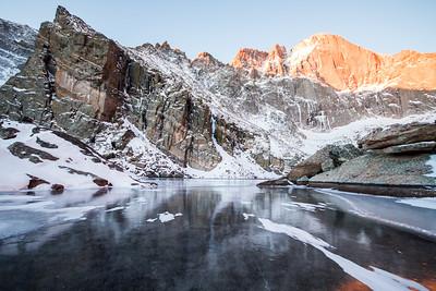 Winter Sunrise at Chasm Lake
