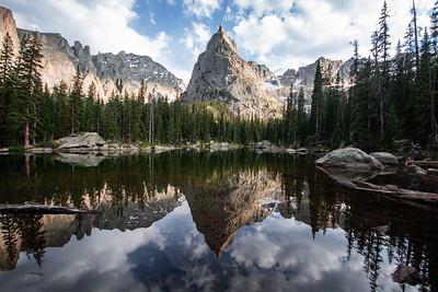 Lone Eagle Peak reflection