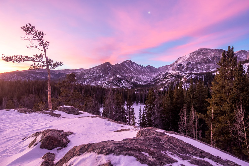 Wintery Sunrise in Rocky Mountain National Park