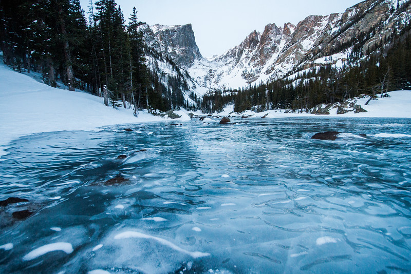Ice on Dream Lake