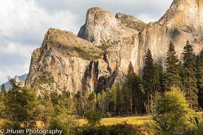 Rainbow in Bridal Veil Falls at Yosemite NP