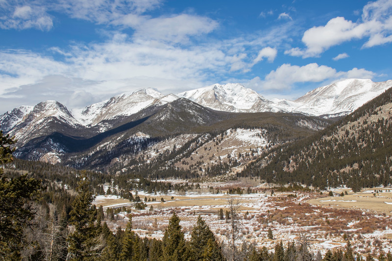 The Majestic beauty of the mountains in Rocky Mountain National Park