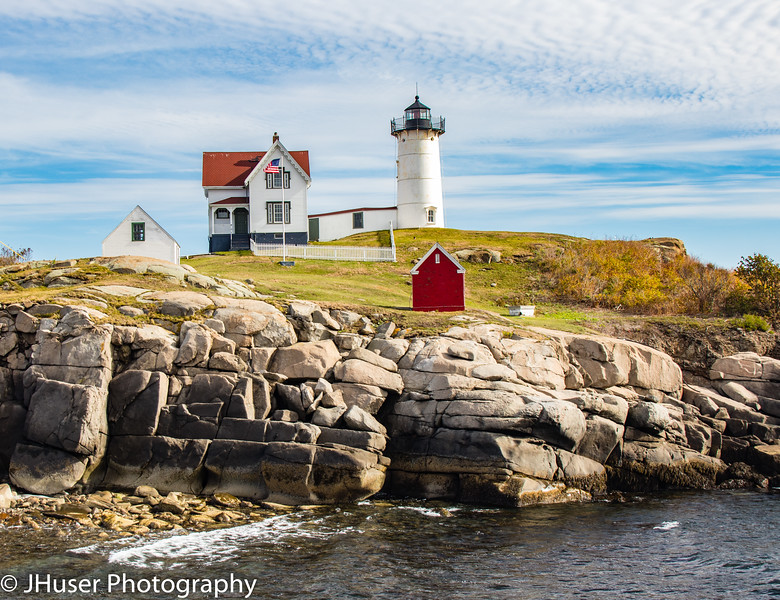 Cape Neddick Nubble Lighthouse in Maine