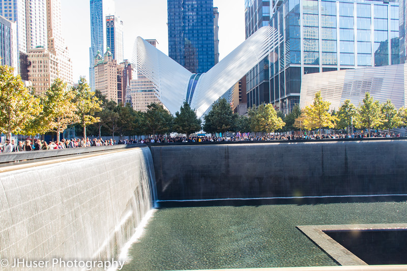 National September 11th Memorial and World Trade Center subway building