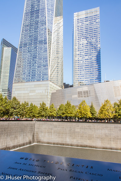 National September 11th Memorial and One World Trade Center