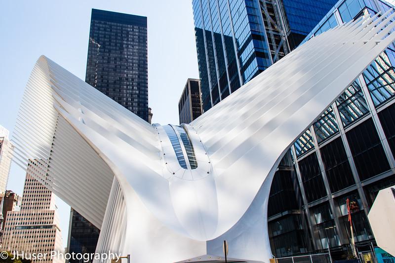World Trade Center subway station in New York city