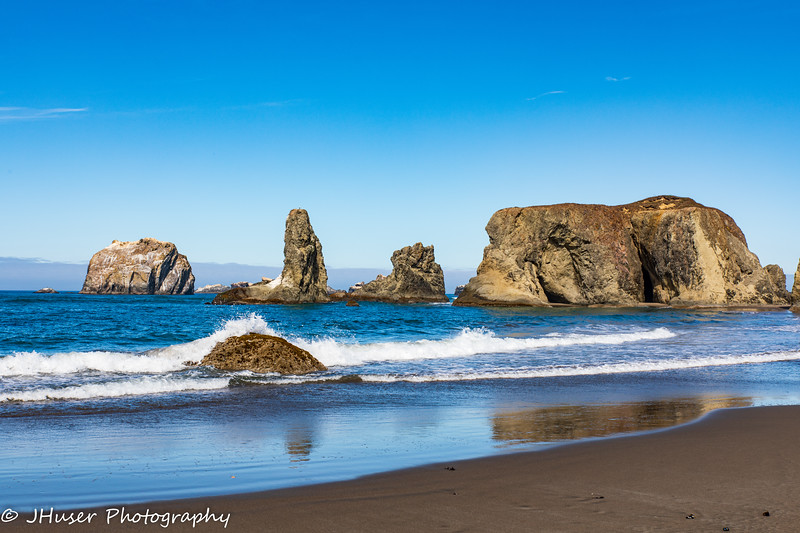 Beach and sea stacks along Oregon coast